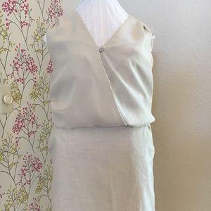 Sleeveless khaki dress